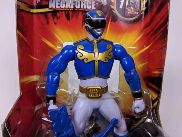 Power Rangers Megaforce - Battle Morphin - Blauer Schwert Ranger - 16 cm – Bild 4