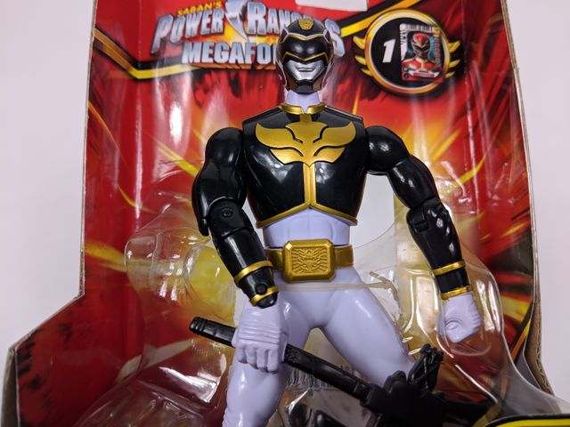 Power Rangers Megaforce - Battle Morphin - Black Ranger - 16 cm – Bild 4