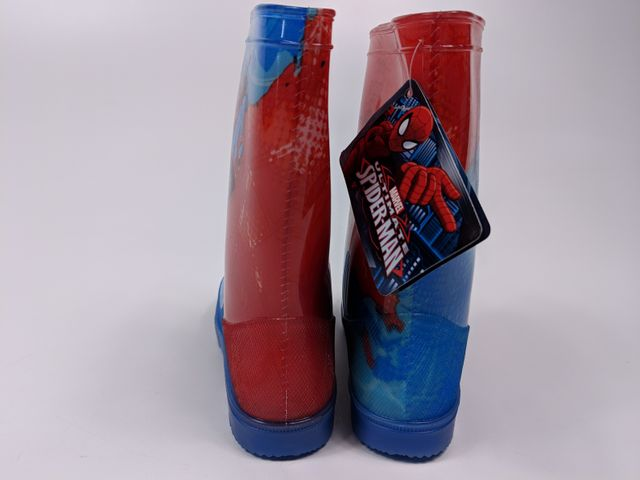 Marvel Spiderman Kinder Gummistiefel Regenstiefel - blau/rot - LED - Gr. 26-33 – Bild 3