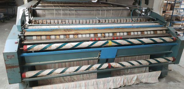 Poensgen Industriewäschemangel MA80-3-2-7 mit Eingabemaschine und 2 Faltmaschinen – Bild 1
