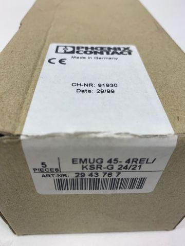 5x Phoenix Contact EMUG 45-4REL/KSR-G 24/21 Relais Modul 2943767 – Bild 5