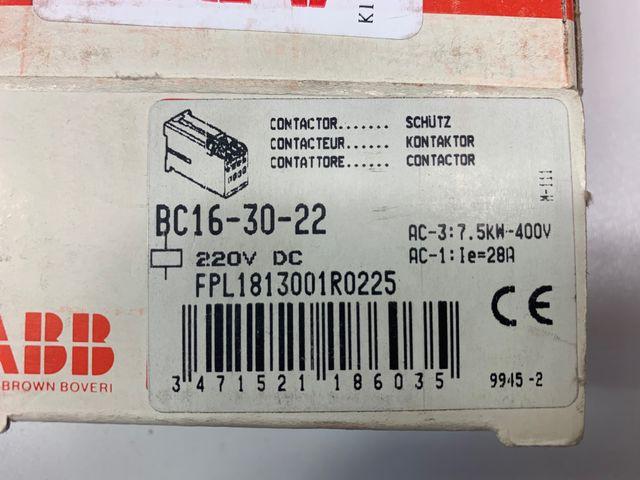 ABB B16-30-22 Hilfsschütz FPL1813001R0225 Kontaktor – Bild 4
