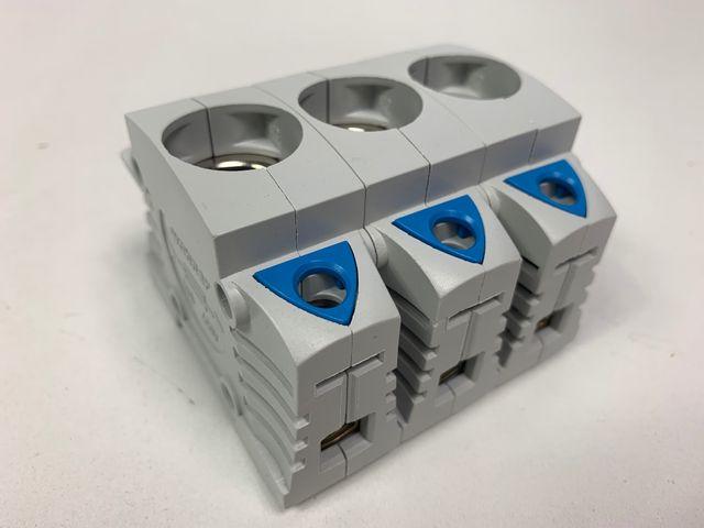 3x Wöhner 31292 Triton D0 Sicherungssockel E18 3-polig – Bild 1