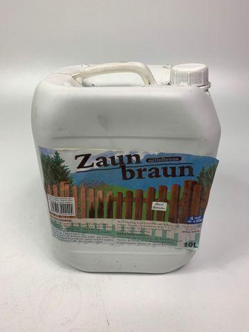 Zaunbraun 10 Liter Zaunlasur Holzschutzlasur Öl Holz Lasur mittelbraun – Bild 1