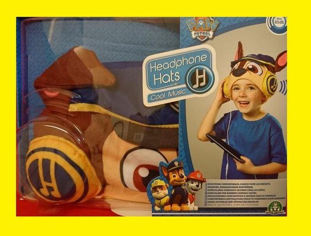 Headphone Hats PAW PATROL Kopfhörer in lustigem Design NEU OVP Jungen – Bild 1