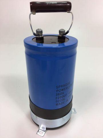 Sprague 36DX Powerlytic Kondensator 2200UF 450VDC 9223L +85°C – Bild 4