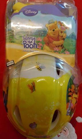 Kinder Fahrrad-Helm Gr. 52 / 56 mit Knie- und Ellenbogenschonern Winnie Pooh Set – Bild 3