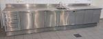 Werheit Küchenschrank 405 cm Edelstahl VA Spüle Gastroschrank Schubladen GN 002
