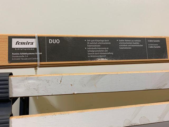Femira Lattenrost 120x200cm Duo motorbetrieben Lattenboden Federholzrahmen 100V – Bild 3