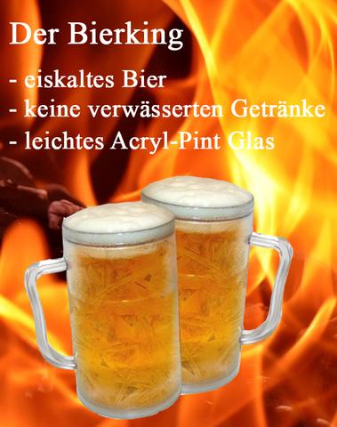 Set Ice King Krug Bierglas Cool Beer Glas Becher gekühltes Bier Bierkrug – Bild 1