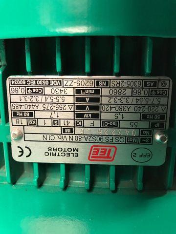 Wilo Pumpe IPL80/115(100)-1,5/2H3-S1, 1,5 KW IPL80, 2900U/min – Bild 5