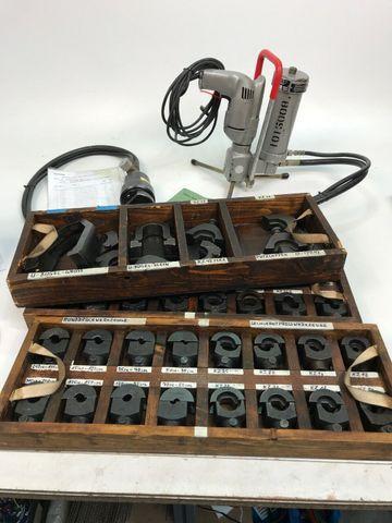 Pfisterer Elektro-Hydr. Hochdruckpresse Kabelschuhpresse viel Zubehör Kabelzange – Bild 1