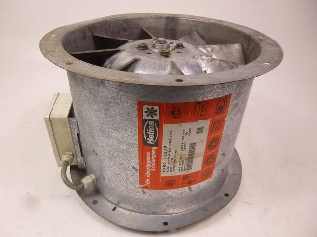 Helios Vard 355/2 Radax Hochdruck-Rohrventilator 400V 3PH 2.80kW Ventilator – Bild 1