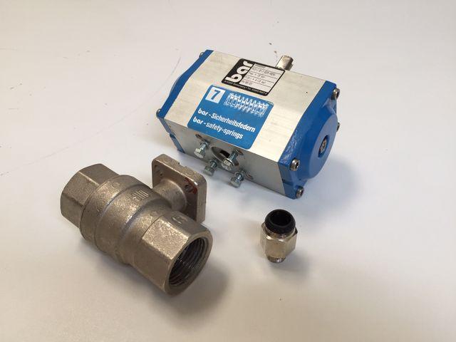 BAR Automatik-Armatur Pneumatisch Typ PKO-1/0-025-A056 – Bild 1