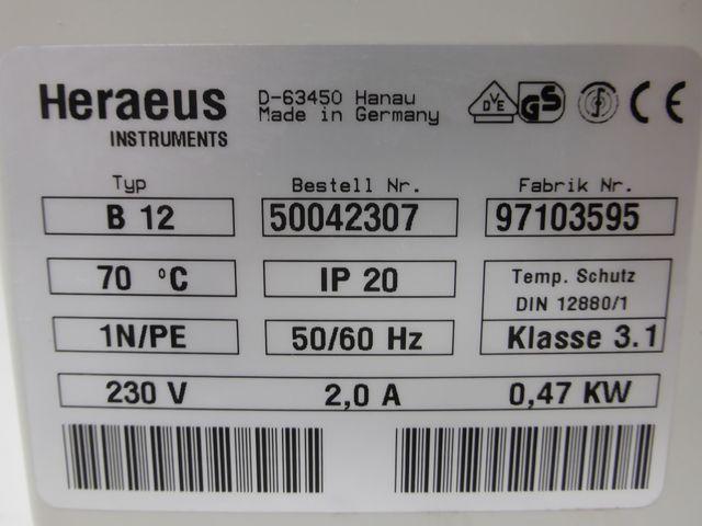 Heraeus Funktion Line B12 Brutschrank Wärmeschrank Inkubator 131 Liter – Bild 11