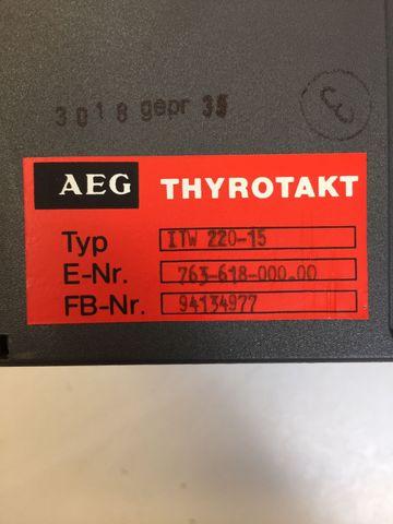 AEG Thyrotakt Leistungssteller ITW 220-15 E-Nr.: 763-618-000.00 – Bild 2