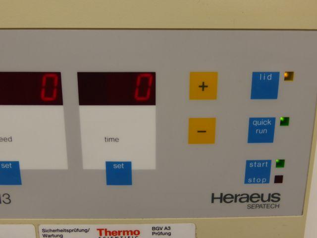 Heraeus Biofuge 13 Zentrifuge Laborzentrifuge Tischzentrifuge Rotor 3757 – Bild 3