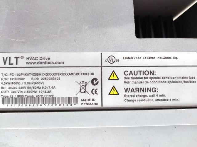 DANFOSS VLT HVAC Frequenzumrichter FC-102P4K0T4Z55H1XGXXXXSXXXXAXBXCXXXXDX – Bild 5