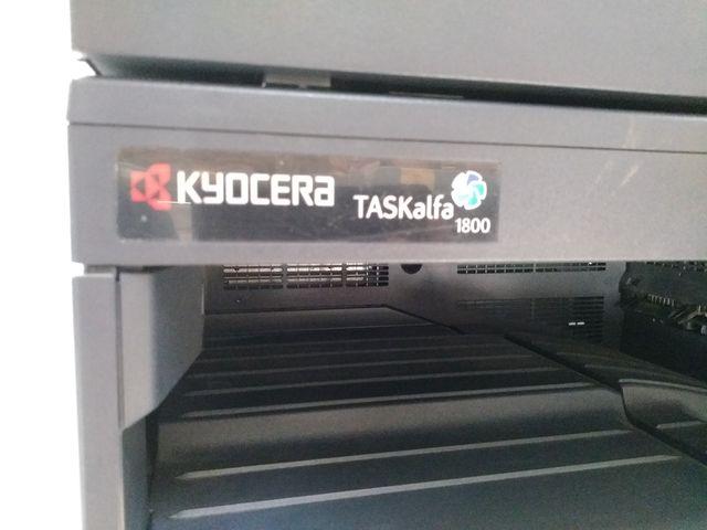 Kyocera TASKalfa 1800 Laserdrucker Scanner FAX, USB, LAN, Drucker + Unterschrank – Bild 7