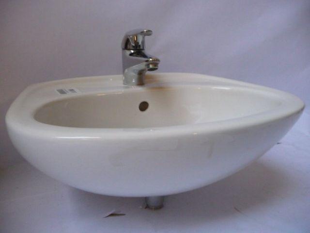Vitra Waschbecken Handwaschbecken 43x25cm mit Grohe Einhandmischer – Bild 6