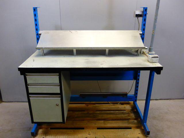 Arbeitsplatz Werkbank Werktisch Laborarbeitsplatz Arbeitstisch 120x60x78cm – Bild 1