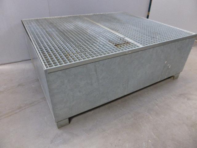Säbu SAFE Mega-Systempalette TC 1 Auffangwanne 1000liter verzinkt – Bild 2