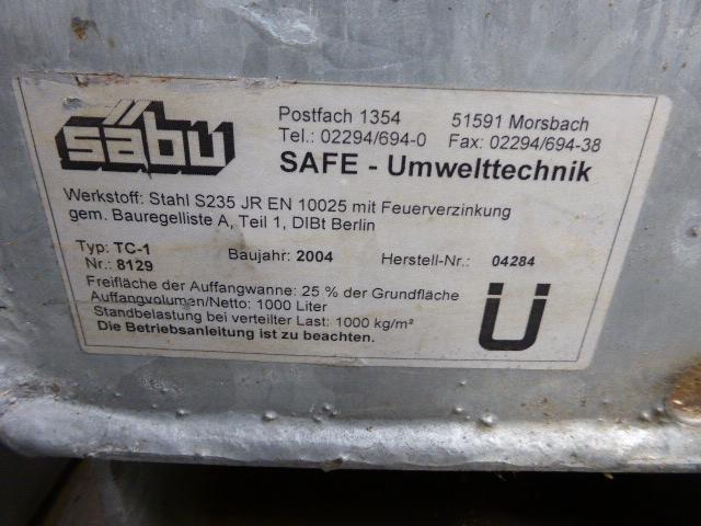 Säbu SAFE Mega-Systempalette TC 1 Auffangwanne 1000liter verzinkt – Bild 5