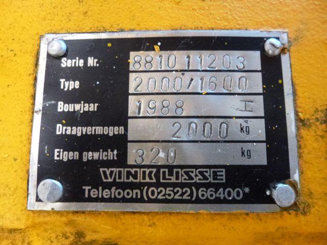 Vink Lisse 2000/1600 Hydraulik Lifter Werkstattkran Kran Hebekran 2000 kg – Bild 9