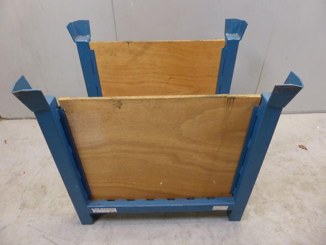 Stapelbox 156867W Stapelbehälter Stahlbehälter 2 Wände offen 800x600x795mm – Bild 2