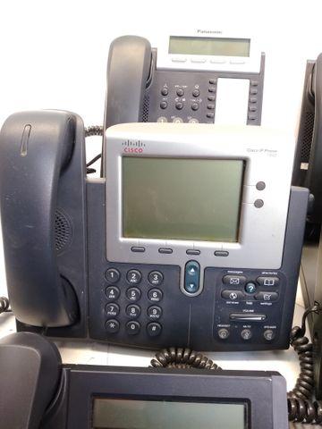 12x Büro Telefone Panasonic LG Cisco 6x Headsets Plantronics Microsoft POSTEN – Bild 5