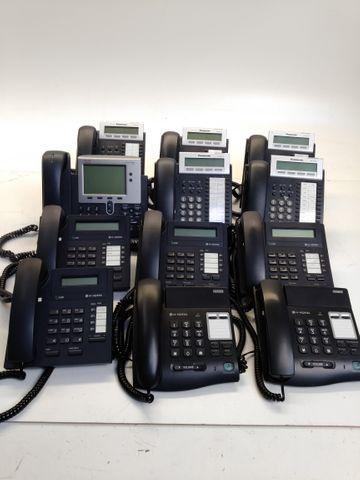 12x Büro Telefone Panasonic LG Cisco 6x Headsets Plantronics Microsoft POSTEN – Bild 1