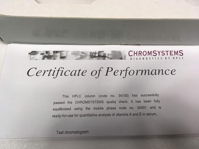 Chromsystems 34001 HPLC Säule Vitamine A und E im Serum Plasma  NP 857,- € – Bild 5