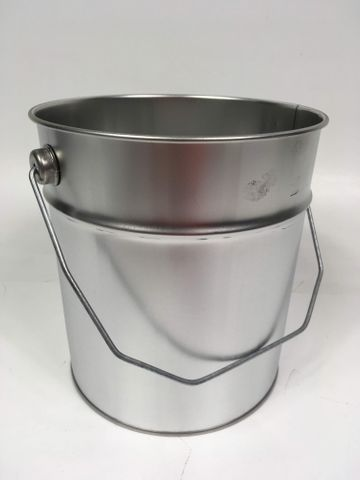 5x 6 Liter Eindrückdeckeleimer + Spannring Eimer Blecheimer Metalleimer  – Bild 2