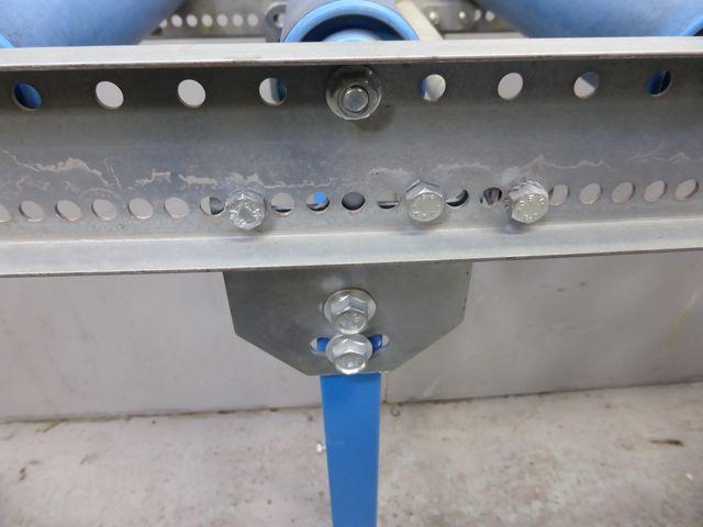 1,5m 30 cm breit Rollenbahn Röllchenbahn Rollentisch Förderband + Seitenführung – Bild 8