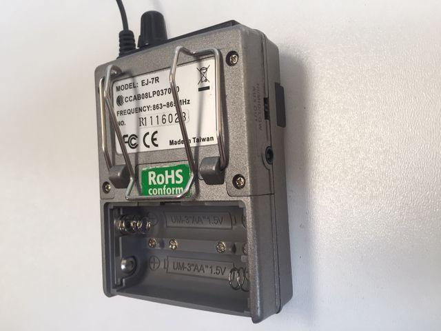 Reisebegleiter Bodypack pocket Receiver Transmitter Funkempfänger Funksender – Bild 9