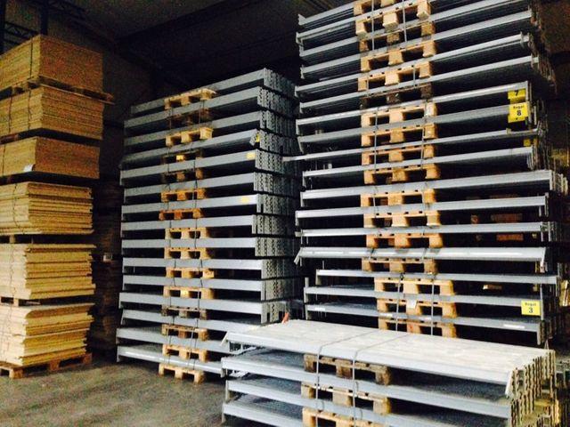 7,20 Meter Dexion Palettenregal Schwerlastregal 3,5x1,05m inkl. Holzplatten – Bild 13