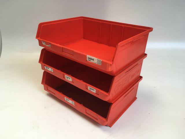 3x Stück SSI Schäfer RK 351 Regalkasten Kiste Regalkiste Kasten 3ZD 348x470x145 mm – Bild 1
