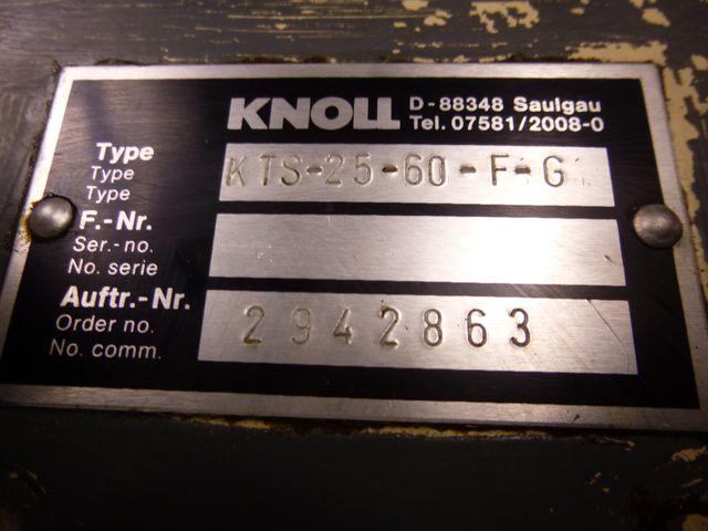 Knoll KTS-25-60-F-G Schraubenspindelpumpe Hochdruckpumpe Verdrängerpumpe – Bild 2
