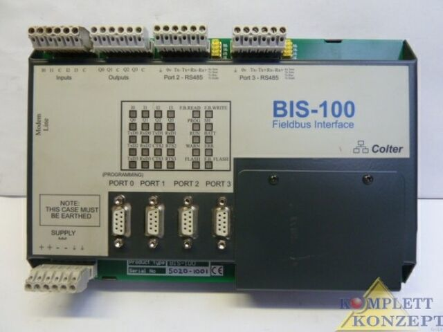 BIS-100 Fieldbus Interface - Colter Prozessmodul