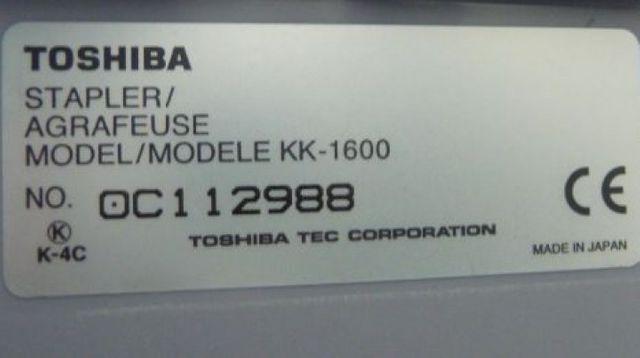 Toshiba KK-1600 Hefter Offline-Hefter – Bild 6