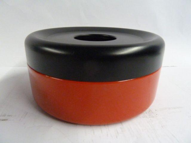 Piccolo Aschenbecher Tischascher Stahl 150x70mm rot