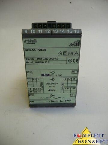 Camille Bauer AG Sineax PQ502 Typ 502-34B1 C392 00E0 A0 Messumformer
