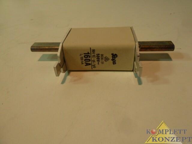 NEU 3 Stück Rapa NH 1C-gL/gG 3 NH-Sicherungen 160 Ampere – Bild 1