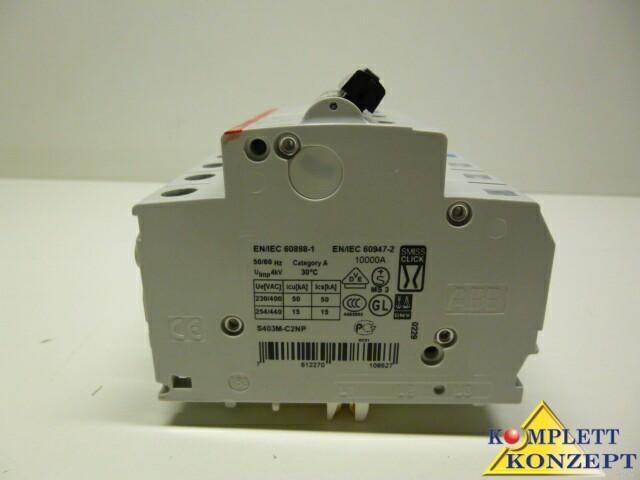 ABB S403M-C2NP Leitungsschutzschalter Schutzschalter – Bild 3