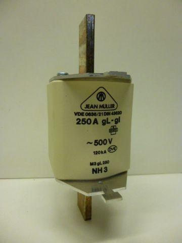 Jean Mueller M3gL250 NH-Sicherung Sicherung 250A 3 Stück