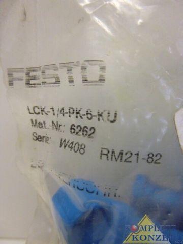 Festo LCK-1/4-PK-6-KU Anschlussstück Anschluss 8 Stück – Bild 2