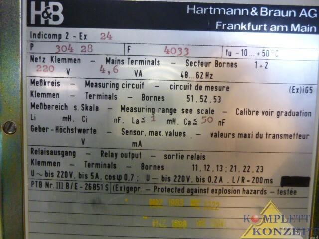 Hartmann & Braun Indicomp 2-EX 24 Messgerät – Bild 4