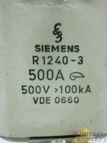 Siemens R1240-3 Sicherung Nh-Sicherung 500A 17 Stück – Bild 2