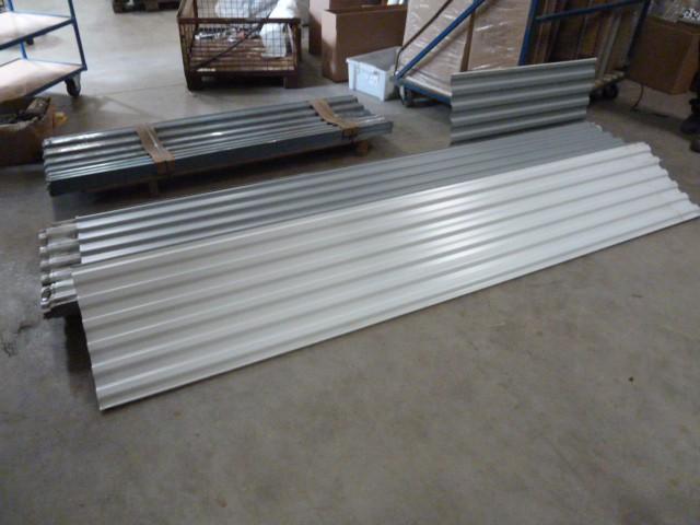 Trapezblech / Wellenblech / Metalldachpfanne Weiß 2,80m x 52cm – Bild 1