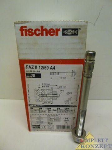Fischer FAZ 12/50 A4 Ankerbolzen Bolzen – Bild 1